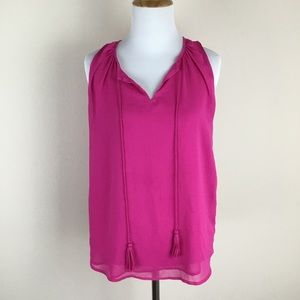 Violet + Claire Women's Magenta Pink Blouse Small